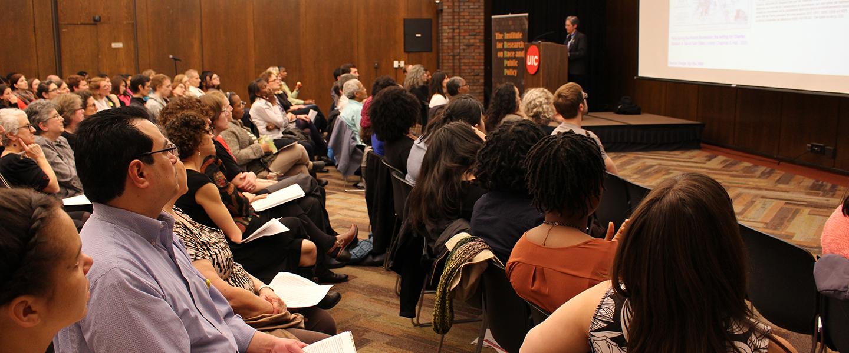 Embodied inequalities panel with Nancy Krieger speaking