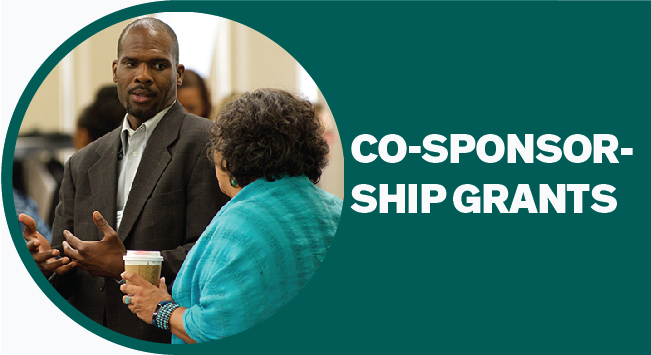 Two leaders of community organizations speak at an IRRPP event